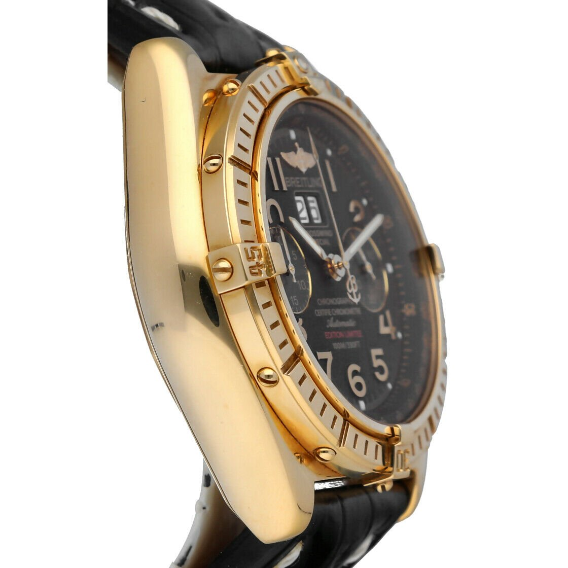 Breitling K44356 Crosswind 18k Yellow Gold Limited Edition Automatic Mens Watch 133527984163 4