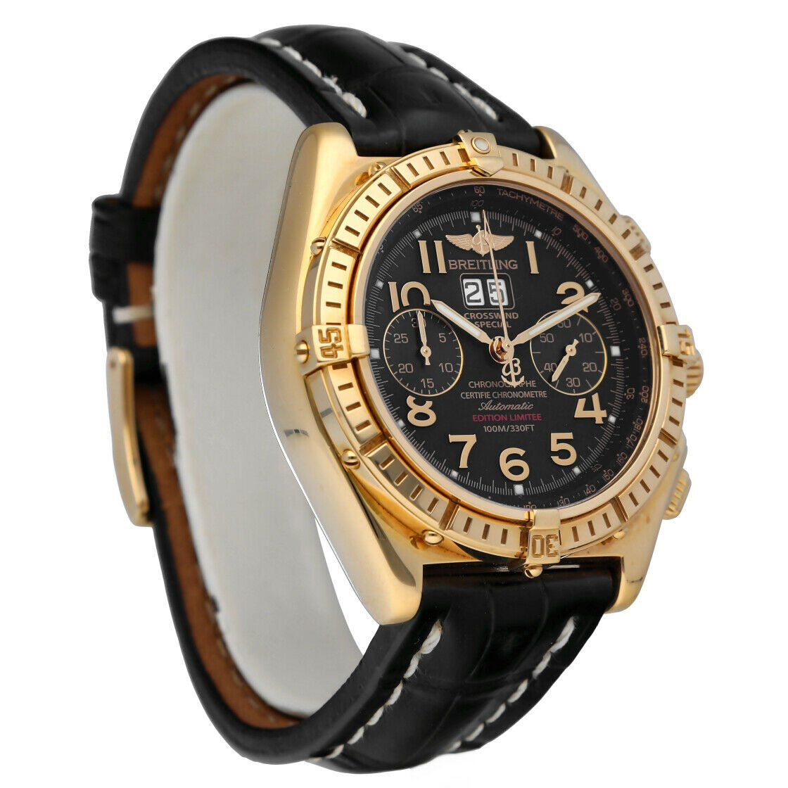 Breitling K44356 Crosswind 18k Yellow Gold Limited Edition Automatic Mens Watch 133527984163 5