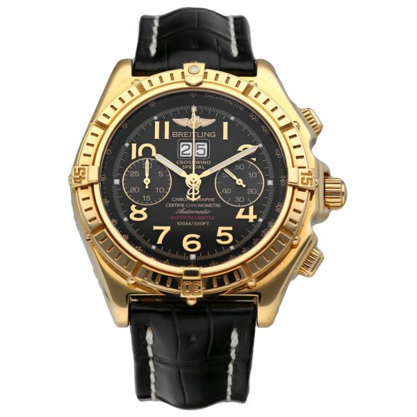 Breitling K44356 Crosswind 18k Yellow Gold Limited Edition Automatic Mens Watch 133527984163