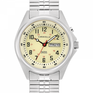 Caravelle-by-Bulova-43C124-Traditional-Day-Date-Light-Stretch-Band-Quartz-Watch-124708670603