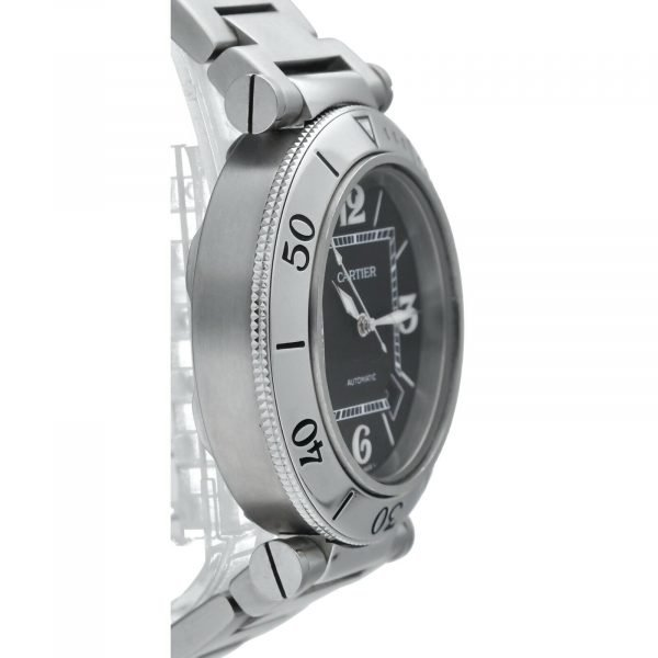 Cartier Pasha Seatimer 2790 Black Dial Stainless Steel Automatic Mens Watch 114531078563 4