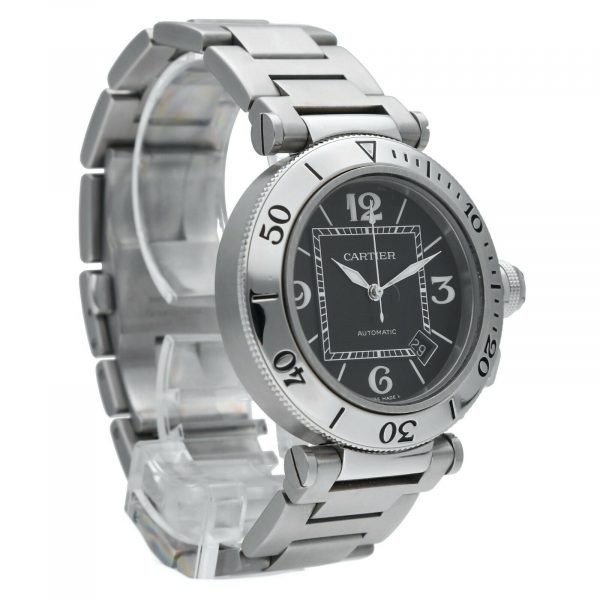 Cartier Pasha Seatimer 2790 Black Dial Stainless Steel Automatic Mens Watch 114531078563 5