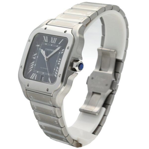 Cartier-Santos-4072-Blue-Dial-Stainless-Steel-38mm-Swiss-Automatic-Mens-Watch-133752534653-3