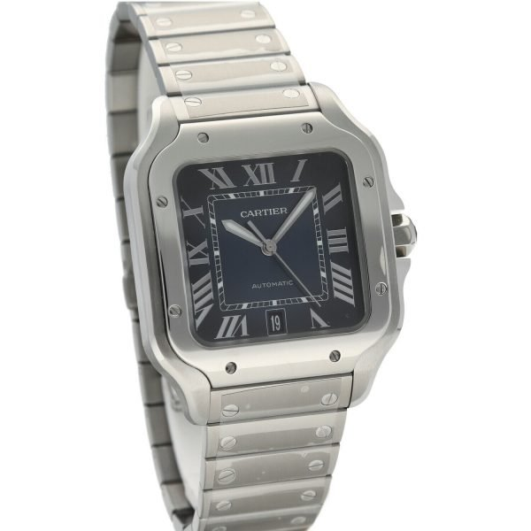 Cartier-Santos-4072-Blue-Dial-Stainless-Steel-38mm-Swiss-Automatic-Mens-Watch-133752534653-5