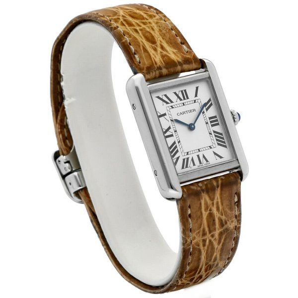 Cartier Tank Solo 2716 24mm x 30mm Stainless Steel Leather Quartz Ladies Watch 124124942813 2
