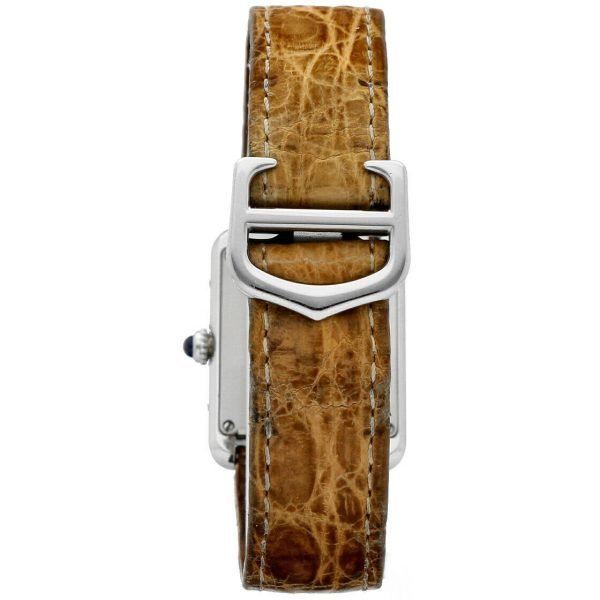 Cartier Tank Solo 2716 24mm x 30mm Stainless Steel Leather Quartz Ladies Watch 124124942813 4