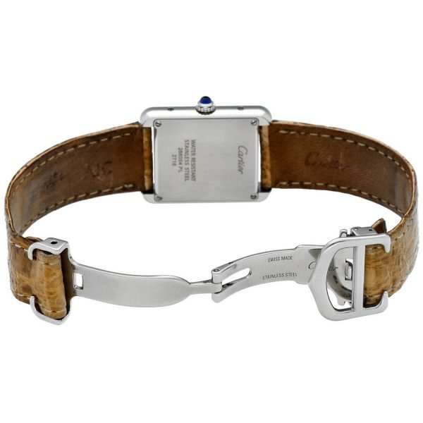 Cartier Tank Solo 2716 24mm x 30mm Stainless Steel Leather Quartz Ladies Watch 124124942813 5