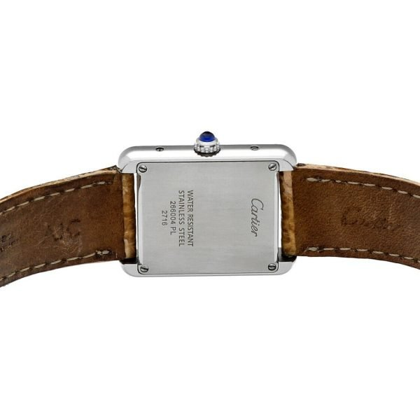 Cartier Tank Solo 2716 24mm x 30mm Stainless Steel Leather Quartz Ladies Watch 124124942813 6