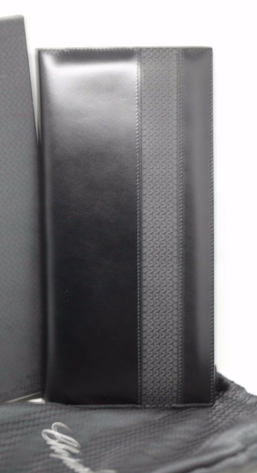 Chopard 95 7056 Black Leather Rubber 72 Business Card Holder Long 475x10 123703193183 3
