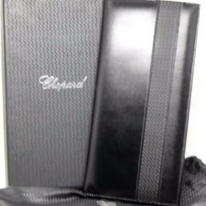 Chopard 95 7056 Black Leather Rubber 72 Business Card Holder Long 475x10 123703193183