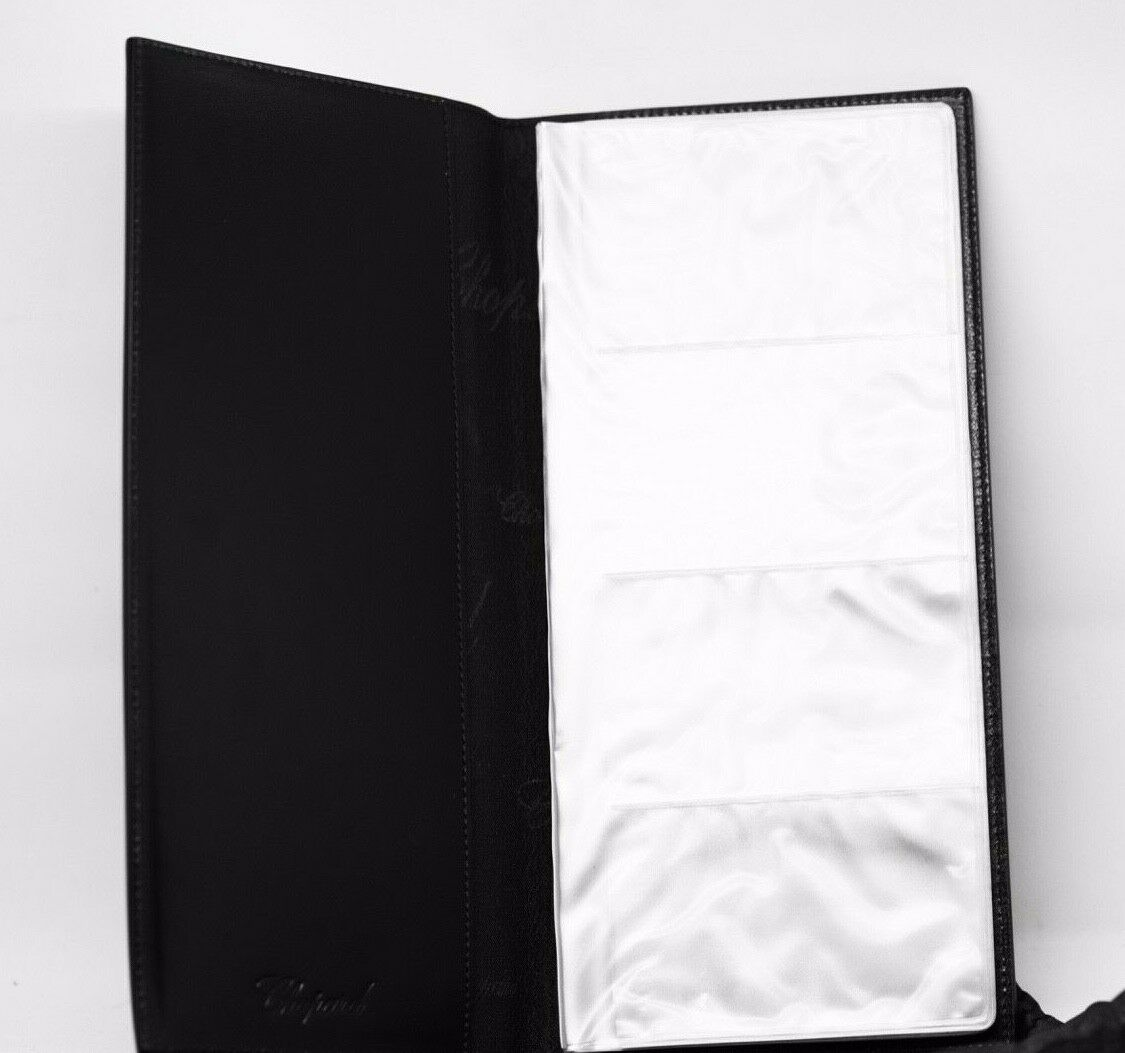 Chopard 95 7056 Black Leather Rubber 72 Business Card Holder Long 475x10 123703193183 4