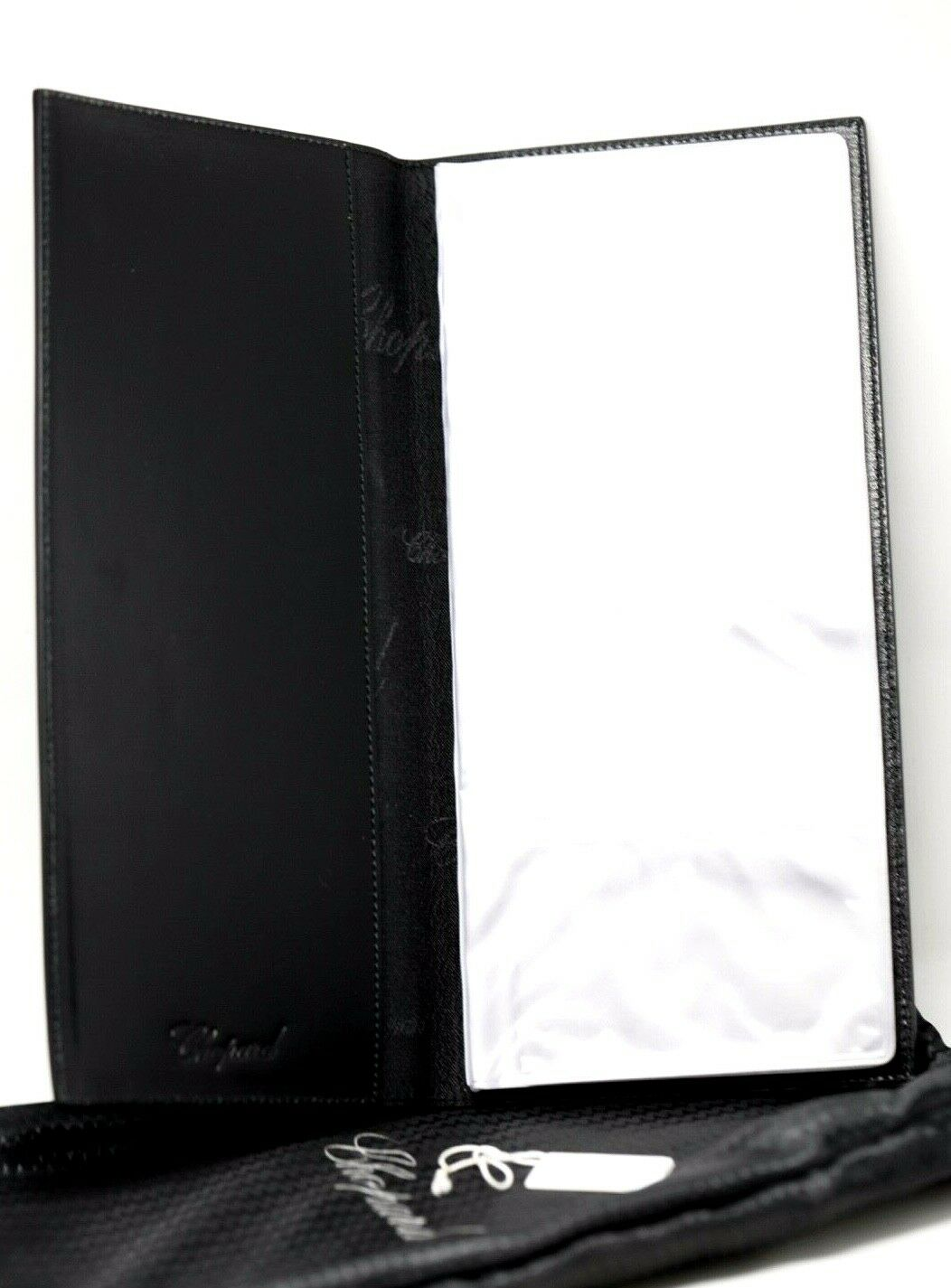 Chopard 95 7056 Black Leather Rubber 72 Business Card Holder Long 475x10 123703193183 5