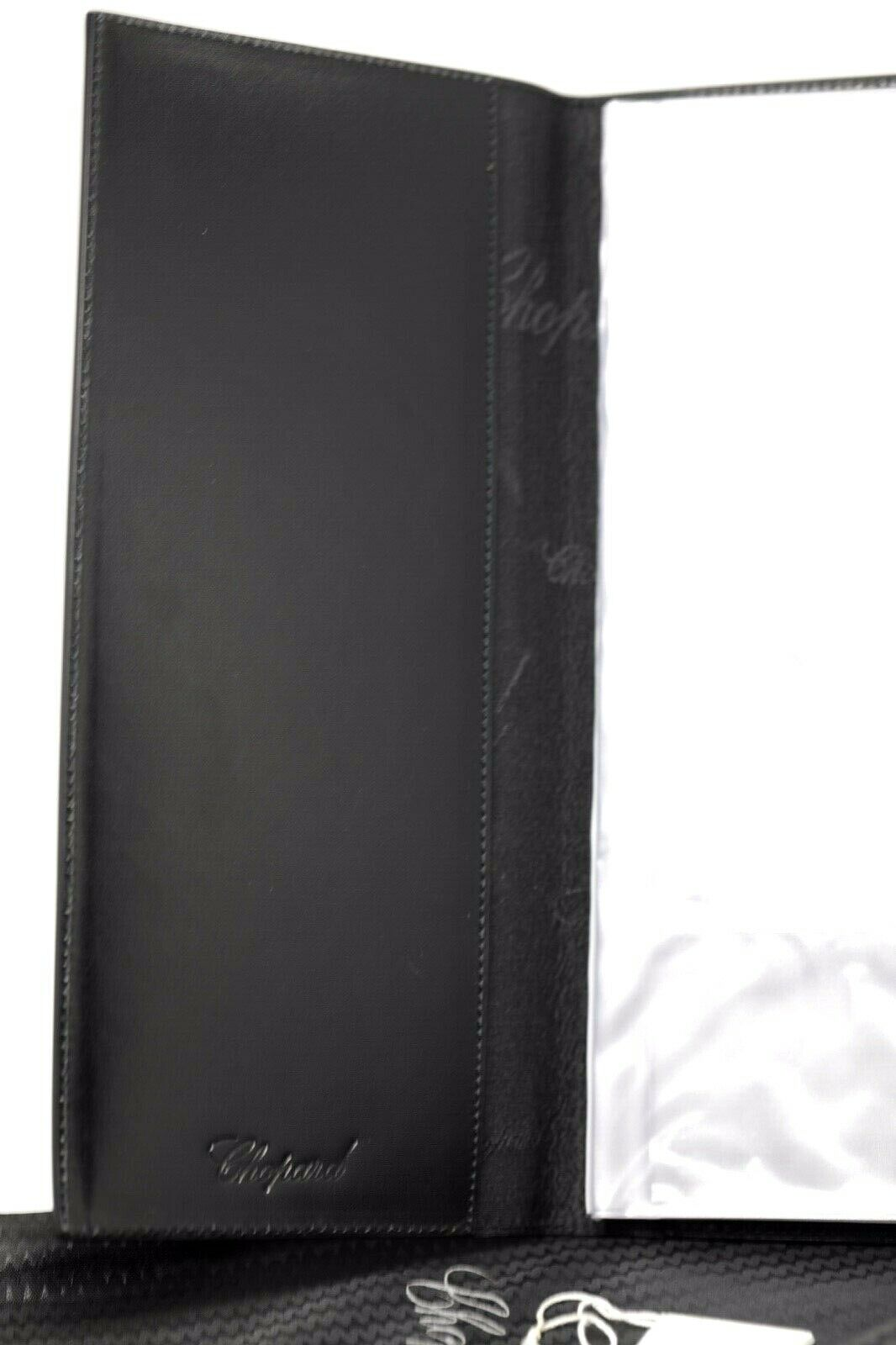 Chopard 95 7056 Black Leather Rubber 72 Business Card Holder Long 475x10 123703193183 6