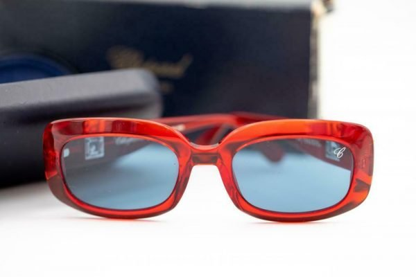 Chopard C20000 6065 Be Happy Red Frame Blue Lens Eyewear Sunglasses 123979212633 4