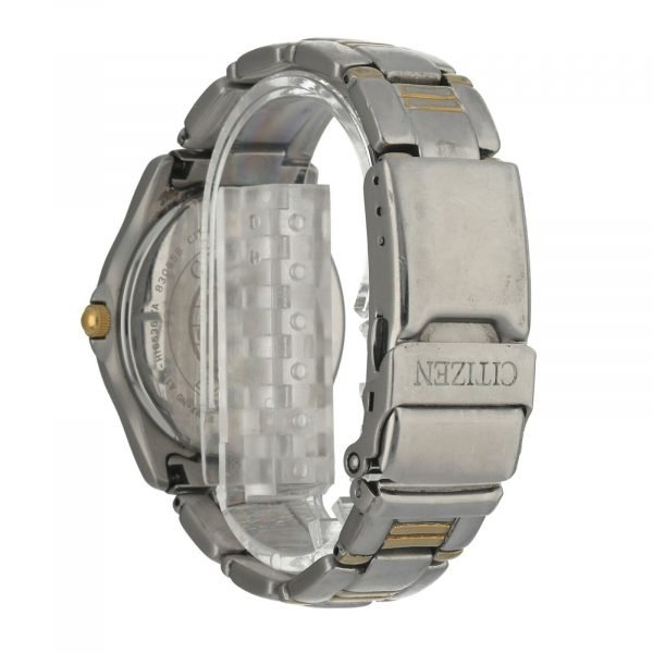 Citizen Eco Drive A114 H16536 WR100 Solar Tech 36mm Steel Two Tone Mens Watch 124559500073 3