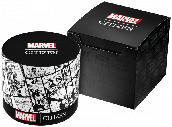 Citizen Eco Drive Spider Man AW0061 01W Marvel Classic Leather Mens Watch 133570256993 4