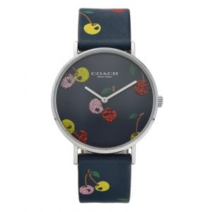 Coach CA1207141596 Multicolor Cherry Perry 36mm Leather Quartz Womens Watch 114573964093