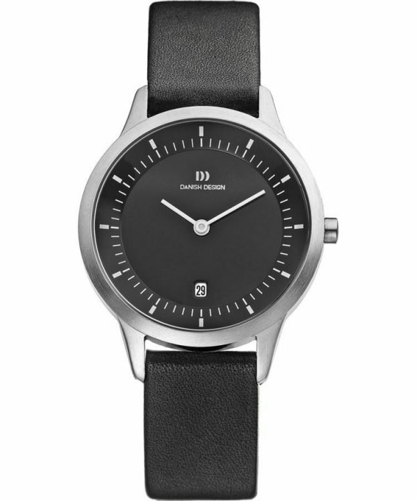 Danish Design IV13Q984 Black Dial Stainless Steel Black Leather Womens Watch 132014505783