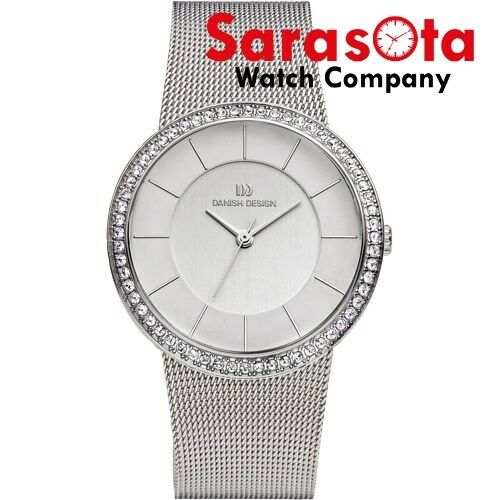 Danish Design IV62Q951 Silver Dial Stainless Steel Crystal Bezel Womens Watch 132012334643