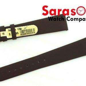 Di Modell Nappa Clip 18mm Regular Brown Flat Watch Band 14mm Buckle 113382846703