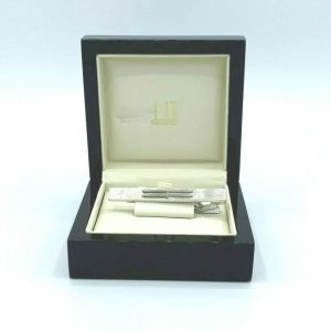 Dunhill JS1002K Single Bar 925 Sterling Silver Mens Tie Clasp Gift 133095857183