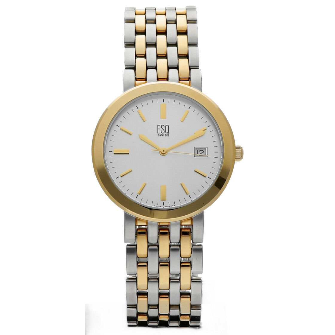 ESQ Swiss E5199 Classic Two Tone Stainless Steel 35mm Quartz Wrist Watch 114324562983