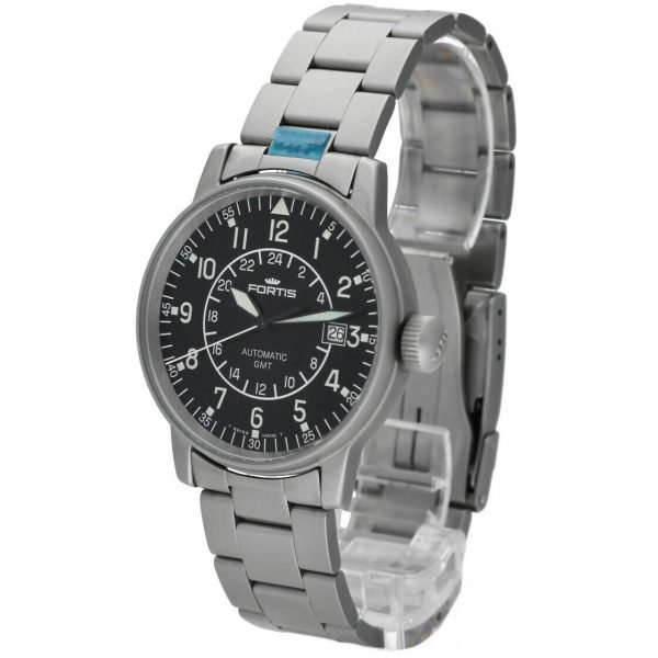 Fortis 5961011M GMT Pilots Matte Stainless Steel 40mm Automatic Mens Watch 114517487893 2