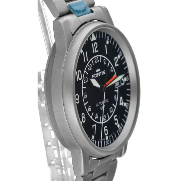 Fortis 5961011M GMT Pilots Matte Stainless Steel 40mm Automatic Mens Watch 114517487893 3