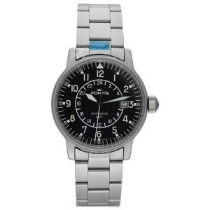 Fortis 5961011M GMT Pilots Matte Stainless Steel 40mm Automatic Mens Watch 114517487893
