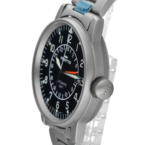 Fortis 5961011M GMT Pilots Matte Stainless Steel 40mm Automatic Mens Watch 114517487893 6