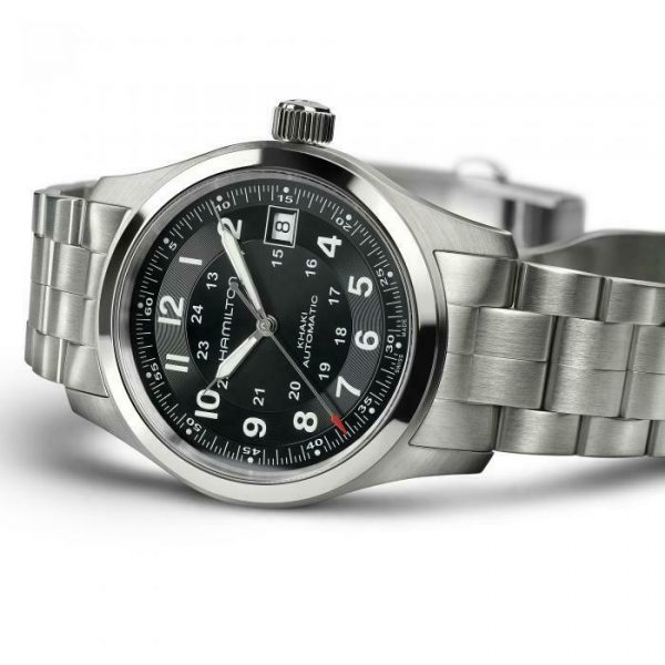 Hamilton H70455133 Khaki Field 38mm Stainless Steel Automatic Mens Watch 114910065033 3