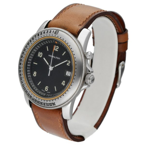 Hamilton RD Project Stainless Steel 40mm Leather Quartz Mens Watch 133498128473 2