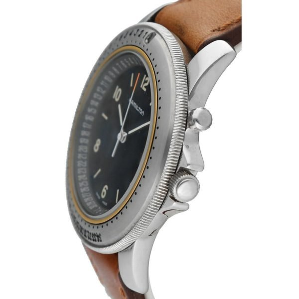 Hamilton RD Project Stainless Steel 40mm Leather Quartz Mens Watch 133498128473 3
