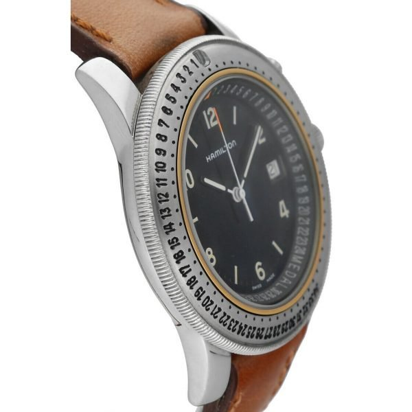 Hamilton RD Project Stainless Steel 40mm Leather Quartz Mens Watch 133498128473 4
