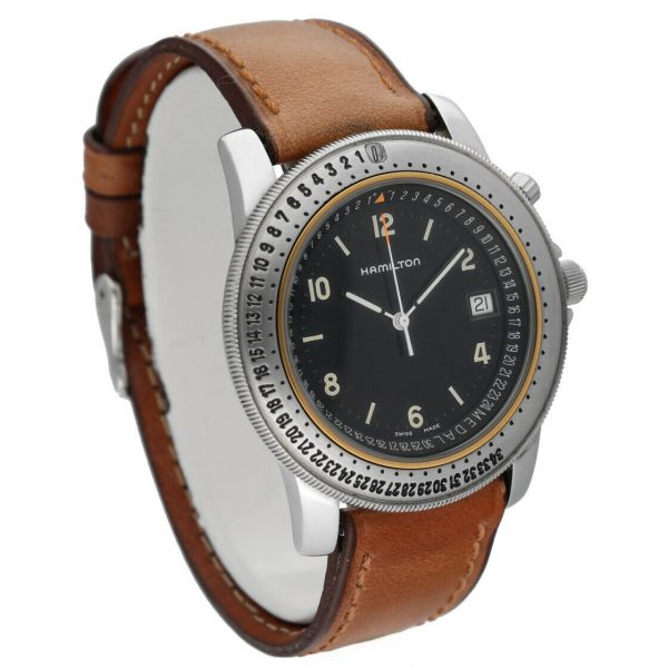 Hamilton RD Project Stainless Steel 40mm Leather Quartz Mens Watch 133498128473 5