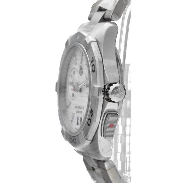 Tag Heuer Aquaracer WAP111Y Silver Dial Steel 39mm Alarm Swiss Quartz Mens Watch 124427128943 3