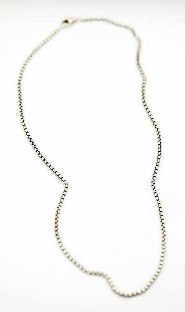 100 Authentic David Yurman Sterling Silver 925 25 mm Box Chain 22 Necklace 124371482534 2