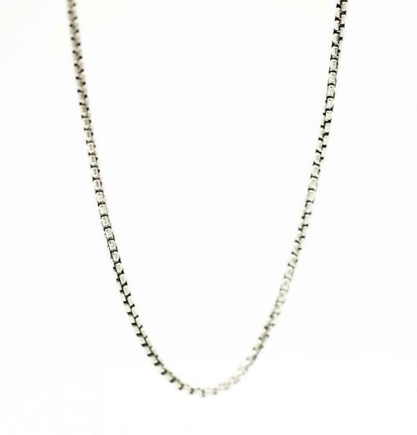 100 Authentic David Yurman Sterling Silver 925 25 mm Box Chain 22 Necklace 124371482534 4