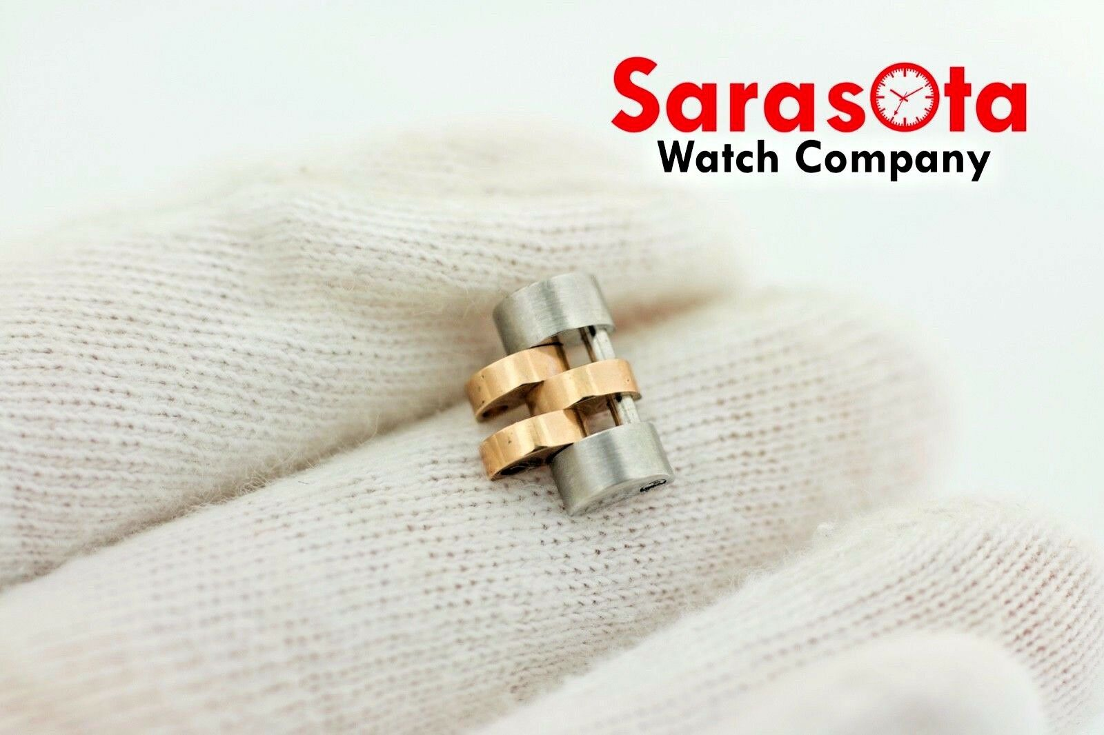 Authentic Rolex Jubilee Solid Two Tone 18k Rose Stainless Steel Link 121416mm 123575065194 2
