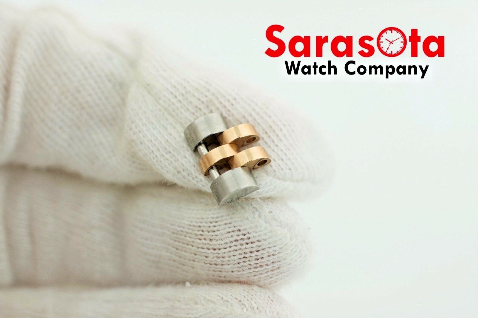 Authentic Rolex Jubilee Solid Two Tone 18k Rose Stainless Steel Link 121416mm 123575065194