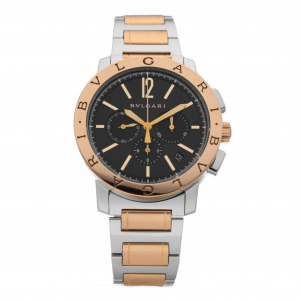 BVLGARI BB 41 SPG CH 18k Rose Gold Steel Chronograph Automatic Mens Watch 133570224964