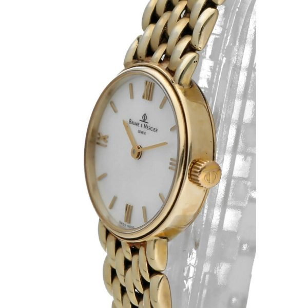 BaumeMercier 7658 14k Yellow Solid Gold MOP Dial Oval Quartz Womens Watch 124382066464 3