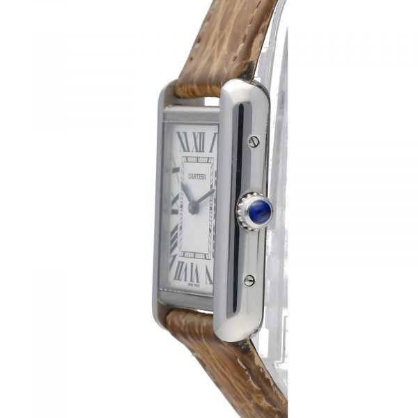 Cartier Tank Solo 2716 24mm x 30mm Stainless Steel Leather Quartz Ladies Watch 114559180534 3