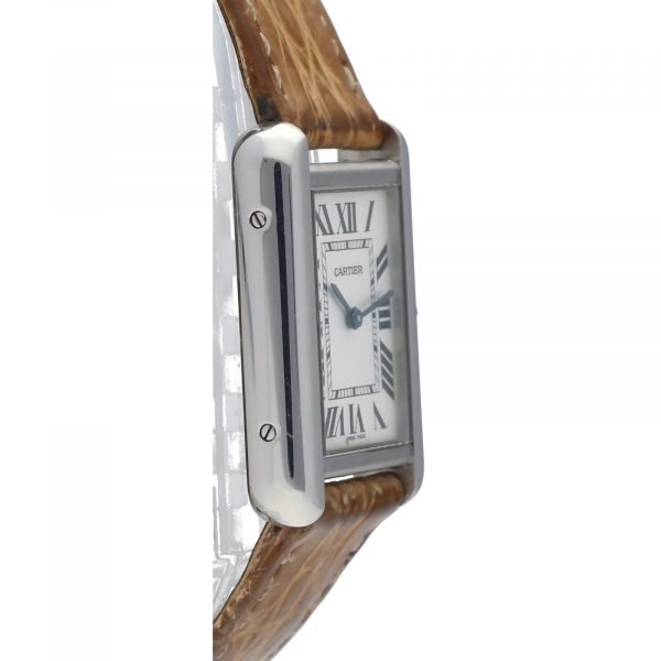 Cartier Tank Solo 2716 24mm x 30mm Stainless Steel Leather Quartz Ladies Watch 114559180534 4