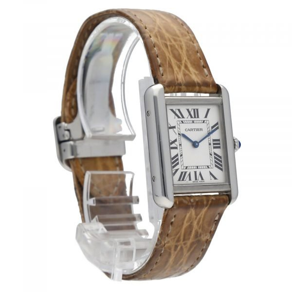 Cartier Tank Solo 2716 24mm x 30mm Stainless Steel Leather Quartz Ladies Watch 114559180534 5