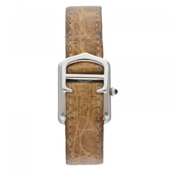 Cartier Tank Solo 2716 24mm x 30mm Stainless Steel Leather Quartz Ladies Watch 114559180534 6