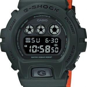 Casio G SHOCK DW6900LU 3 Matte Green Orange Resin Digital Quartz Wrist Watch 124126138044
