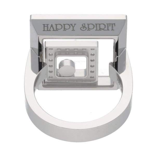 Chopard 825977 0 18k White Gold 750 Happy Spirit Diamonds Womens Ring Size 7 114622411894 7