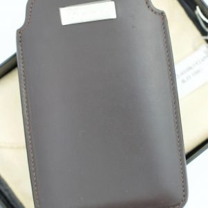 Chopard 95012 0108 iPhone Case Brown Leather Business Card Holder Made in Italy 123701997514