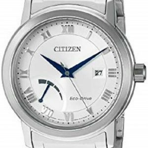 Citizen Eco Drive AW7020 51A Silver Dial Steel Power Reserve Dress Mens Watch 122092111484